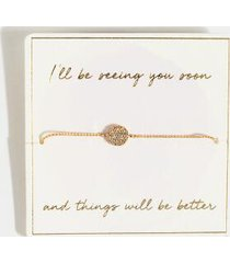 see you soon bracelet - gold