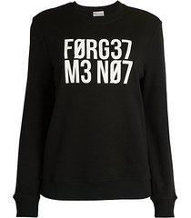 numerical graphic sweatshirt