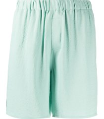 ami paris textured-finish knee-length shorts - green
