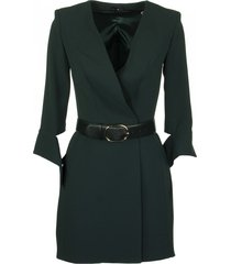 elisabetta franchi celyn b. bottle green dress and belt