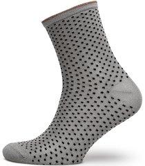 dina small dots lingerie hosiery socks silver becksöndergaard