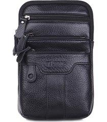 vera pelle business multi-funzionale 6 pollici telefono borsa vita borsa crossbody borsa per uomini