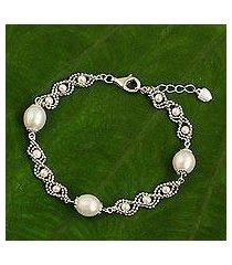 cultured pearl chain bracelet, 'rolling dance' (thailand)