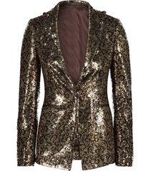 gilda single breasted sequined jacket