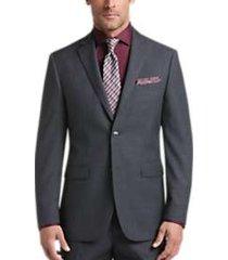 perry ellis premium gray sharkskin slim fit suit