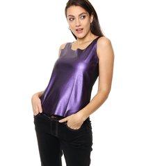 blusa violeta etam jeans sottano