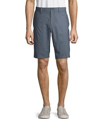 high-rise button-front shorts