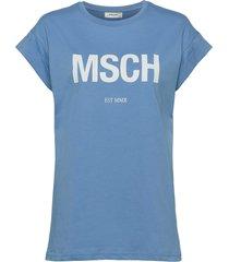 alva msch est tee t-shirts & tops short-sleeved blå moss copenhagen
