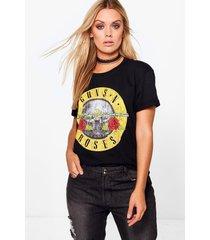 plus guns n roses license t-shirt, black