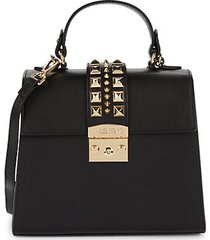 cleo pal rockstud-embellished leather crossbody bag