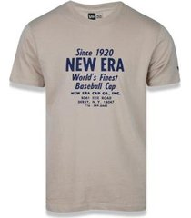 camiseta manga curta heritage old teste kaki new era - masculino