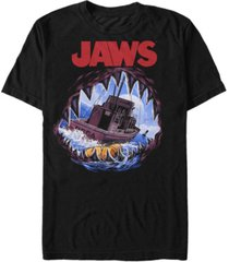 jaws men's painted open mouth shark short sleeve t-shirt