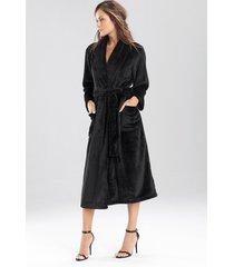cashmere fleece plush sleep & lounge bath wrap robe, women's, size l, n natori