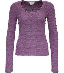 bottega veneta cotton sweater with pompon detail