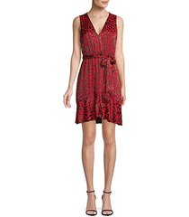 brooks leopard-print a-line dress
