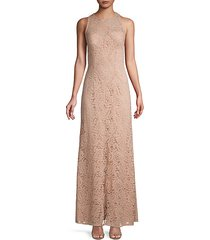 lace sleeveless column gown