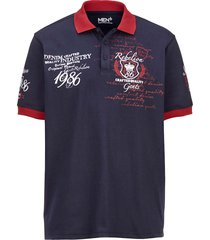 poloshirt men plus marine::rood