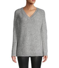 theory women's knitted cotton-blend sweater - cloud - size xs
