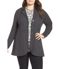 plus size women's nic+zoe seamed riding jacket, size 3x - grey