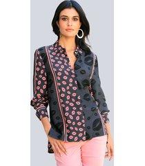 blouse alba moda marine::koraal
