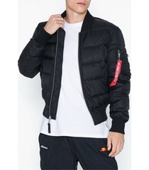 alpha industries ma-1 puffer boy friend fit jackor black