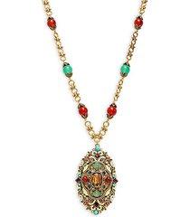 thoughtful treasure crystal & bead pendant necklace