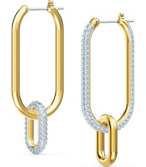swarovski gold-tone crystal link convertible earrings