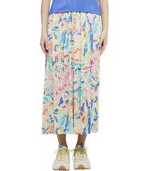 pleats please issey miyake pleats please multicoloured playing skirt