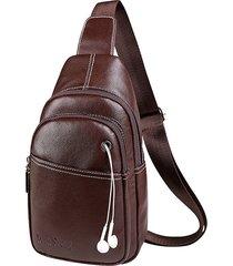 vintage outdoor casual sling borsa petto crossbody borsa per gli uomini