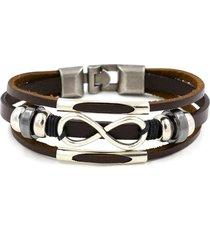braccialetto in cuoio stile etnico