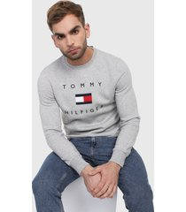 buzo gris-azul tommy hilfiger