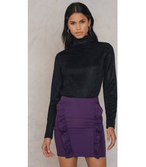 na-kd party two side frill skirt - purple