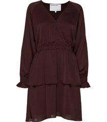 elda wrap dress knälång klänning röd designers, remix