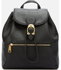 coach women's polished pebble leather evie backpack - black