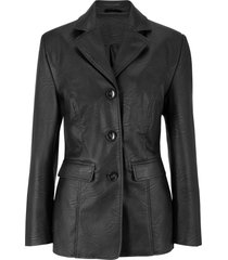 blazer lungo in similpelle (nero) - bpc bonprix collection