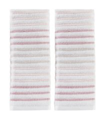 tie dye stripe 2 piece hand towel set bedding