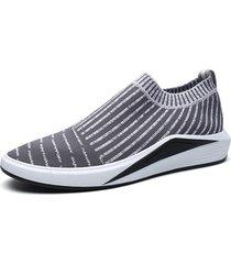scarpe da passeggio casual antiscivolo in tessuto lavorato a maglia da uomo
