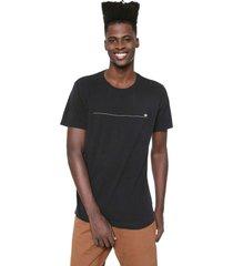 camiseta osklen color minim preta - preto - masculino - algodã£o - dafiti