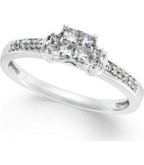 diamond promise ring in 10k white gold (1/4 ct. t.w.)