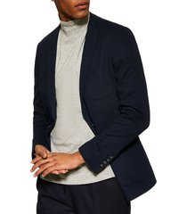 men's topman classic fit jersey blazer
