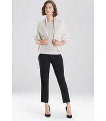 natori chunky knit cocoon sweater jacket, women's, beige, size xl natori