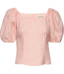 mahdoton piccolo shirt blouses short-sleeved rosa marimekko