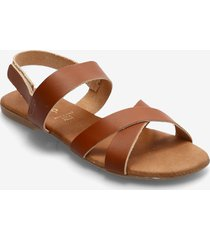 biabrooke cross sandal shoes summer shoes flat sandals brun bianco