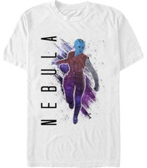 marvel men's guardians of the galaxy painted nebula short sleeve t-shirt