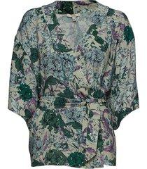 lola kimonos groen dagmar