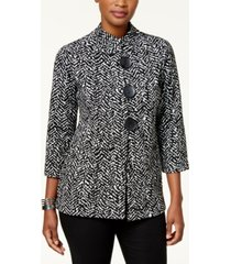 jm collection printed asymmetrical jacket, created for macy's