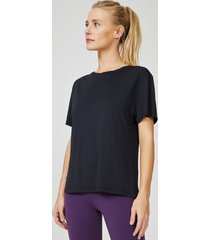 amaro feminino camiseta performance ampla, preto