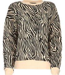 sweatshirt met zebraprint yessie  dierenprint