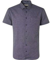 no excess shirt short sleeve 2 coloured with indigo blue