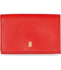 burberry small folding wallet - red